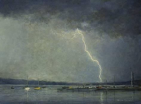 Thunderstorm over Cazenovia Lake by Wayne Daniels