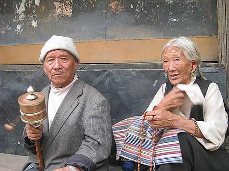 Tibet Couple by Saman Khan