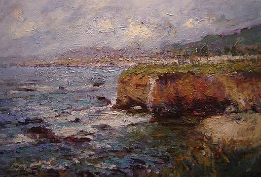 Tidewater on the cliffs II by R W Goetting