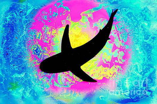 Tie Dye Shark Pop by Justin Moore