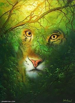 Tiger Woods by Jim Warren