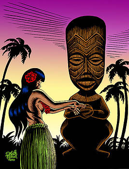 Tiki Sunset by Keith Tucker