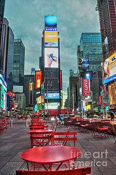 Times Square Tables by Timothy Lowry