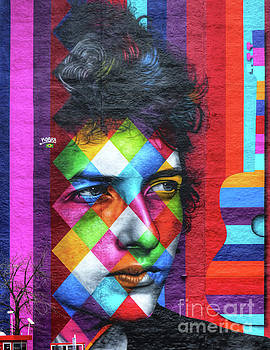 Times They Are A Changing Giant Bob Dylan Mural Minneapolis Detail 1 by Wayne Moran