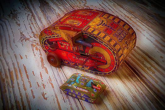 Tin Toy Tanks by Garry Gay