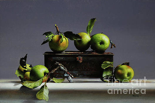 Tin With Wild Apples by Larry Preston