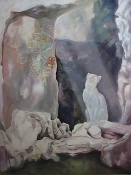 Tinos Island Cat by Eve Corin