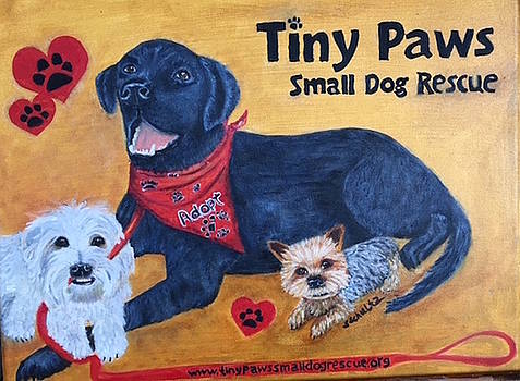 Tiny Paws Small Dog Rescue by Sharon Schultz