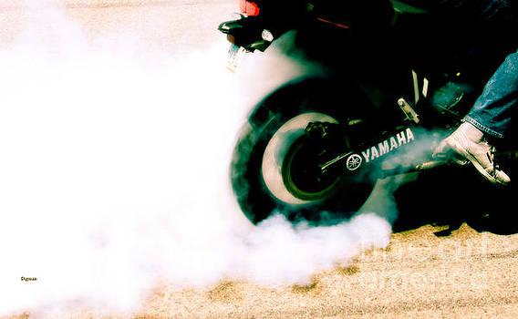 Tire Smoke by Steven  Digman