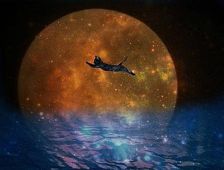 To the Moon and Back Cat by Kathy Barney