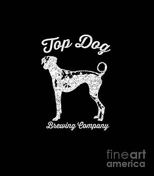 Edward Fielding - Top Dog Brewing Company Tee White Ink