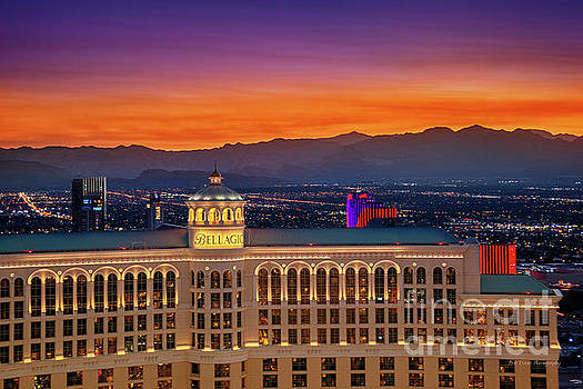 Top of the Bellagio after Sunset by Eric Evans