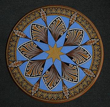 Top Ornamental Painted Round Table by Andrea Ellwood