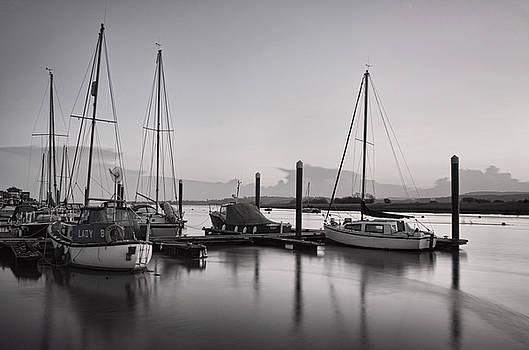 Topsham boats at dusk by  P Hemington