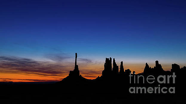 Totem Poles Silhouette by Jerry Fornarotto