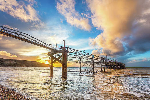 Totland Pier Sunset by English Landscapes