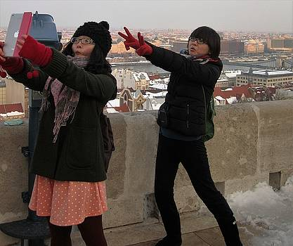 Tourists in Budapest by Travel Pics