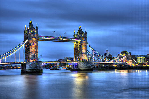 Tower Bridge London Blue Hour by Shawn Everhart