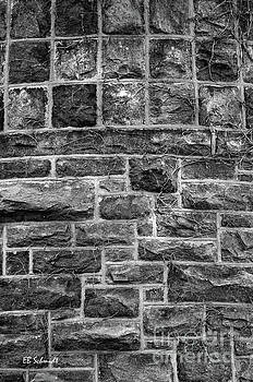 Tower Wall black and white by E B Schmidt
