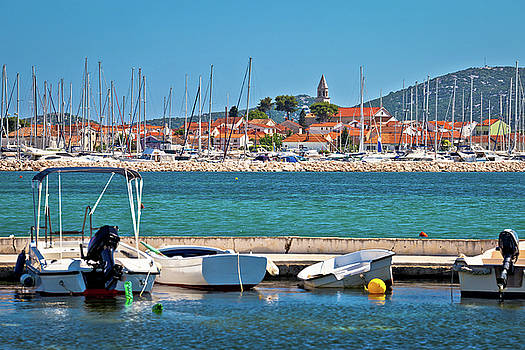 Town of Biograd Na Moru coastline view by Dalibor Brlek