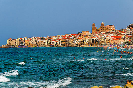 Town Of Cefalu Sicily. by Xavier Cardell