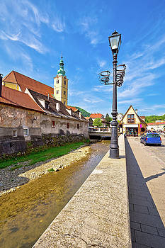 Town of Samobor architecture vertical view by Dalibor Brlek