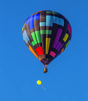 Toy Balloon And Hot Air Balloon by Garry Gay