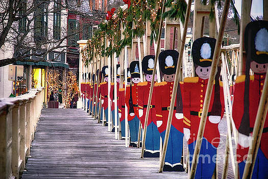 Toy Soldiers on a Bridge by George Oze