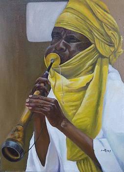 Traditional Algaita Horn Player by Olaoluwa Smith