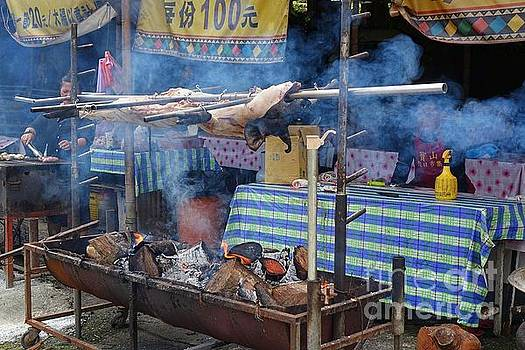Traditional Market in Taiwan Native Village by Yali Shi