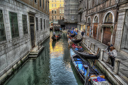 Traffic jam in Venice by John Hoey