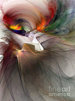 Tragedy Abstract Art by Karin Kuhlmann