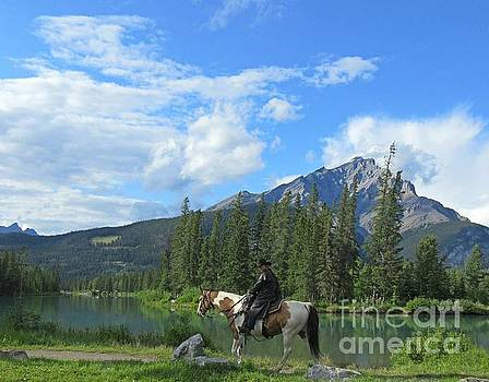 Trail Rider Lakeside in the Beautiful Rocky Mountains  by John Malone