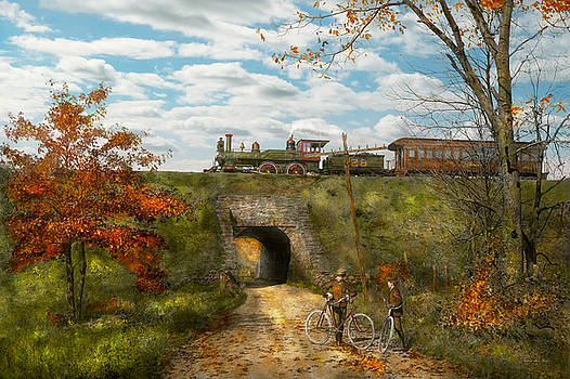 Mike Savad - Train - Arlington NJ - Enjoying the Autumn Day - 1890