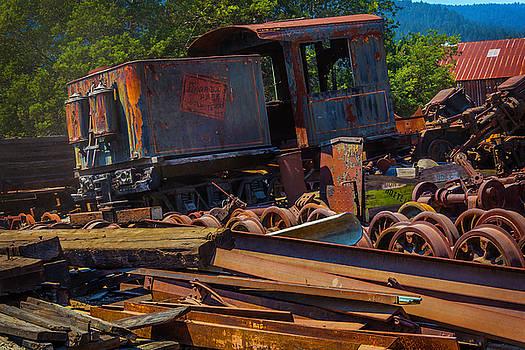 Train Bone Yard by Garry Gay