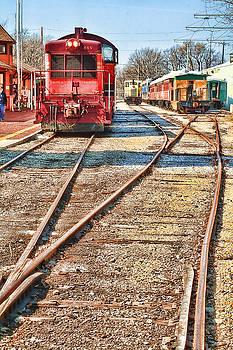 Train on Tracks by Vicki McLead