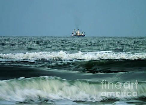 Trawler On The Horizon  by D Hackett