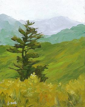 Tree and Mountain View by Irene Pruitt