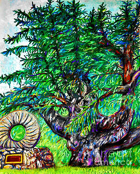 Tree and Stone wheel by Emily Michaud