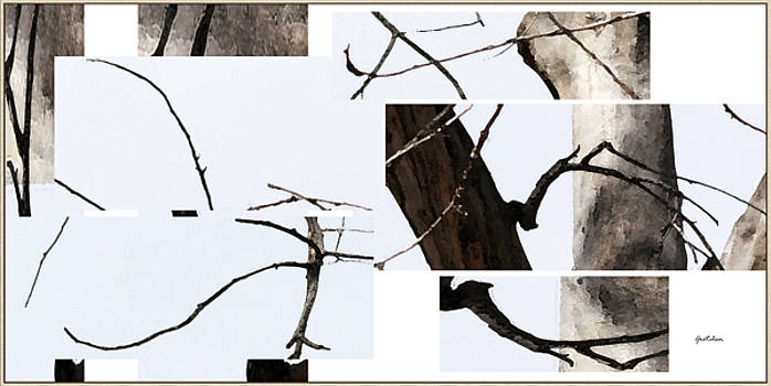 Tree Calligraphy 4 Collage by Gretchen Wrede