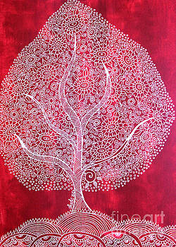 Tree - Kalamkari by Shachi Srivastava