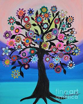 Blooming Tree Of Life by Pristine Cartera Turkus