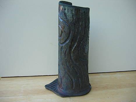 Tree trunk vase by Julia Van Dine