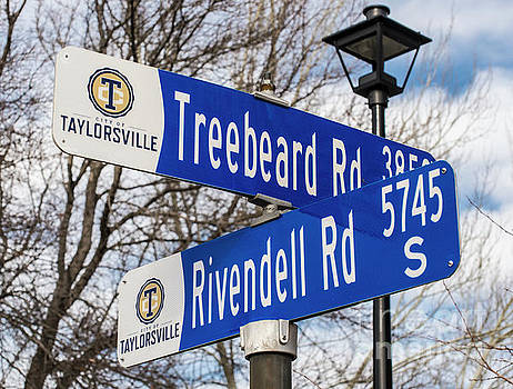 Treebeard and Rivendell Street Signs by Gary Whitton