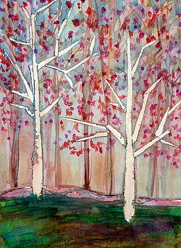 Trees and Fence by Beth Sebring