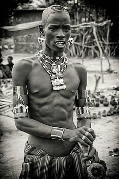 Tribal Man in Ethiopia by Nichon Thorstrom