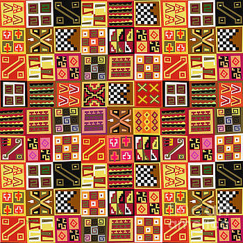 Tribal Quilt by Bedros Awak