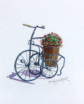 Tricycle with Flowers by Michael McDougall