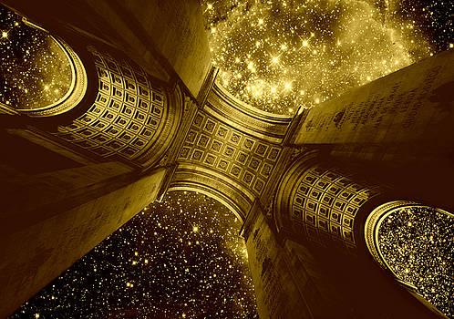Triumph On A Cosmic Scale - Arc de Triomphe by Aurelio Zucco