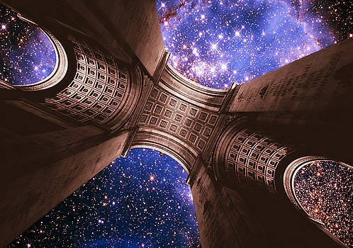 Triumph On A Cosmic Scale II - Arc de Triomphe by Aurelio Zucco